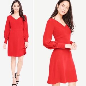 Ann Taylor Classy Red Career Dress